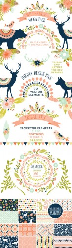 Creativemarket - Wilderness Mega Pack 62156