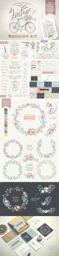 Creativemarket - Really Rustic Vintage Wedding Kit 199465