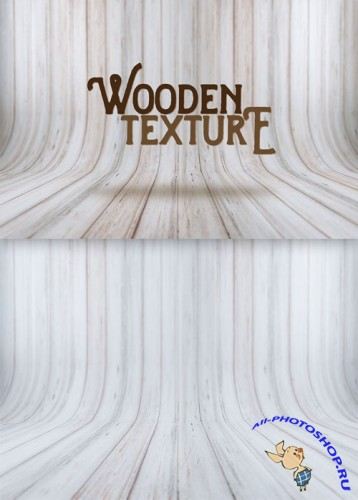 Vintage Blurred and Curved Wood Texture PSD Template