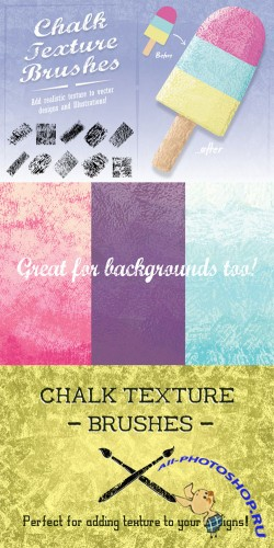 Creativemarket - Chalk Texture Brushes 44754