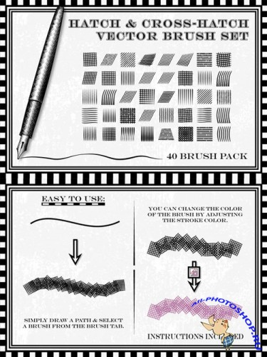 Creativemarket - Hatch and Cross-Hatch Brushes 28263