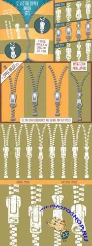 Creativemarket - Zipper Brushes 12966