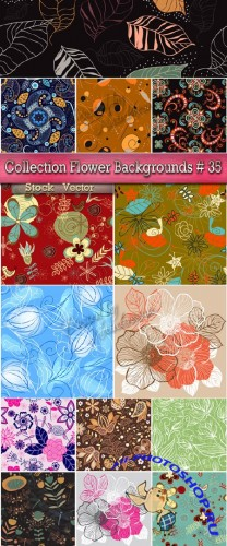 Collection Flower Backgrounds in Vector # 35