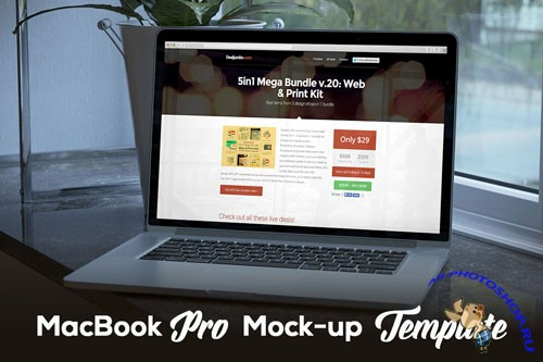 MacBook Pro Mock-Up PSD Template