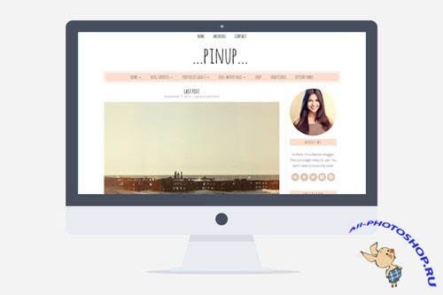 Creativemarket - Pinup v1.1 - Feminine Wordpress Theme 206123
