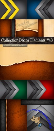Collection Backgrounds Decor elements in Vector # 40