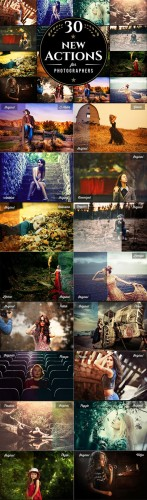 30 Photoshop Actions. V-1 - Graphicriver 11783936