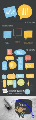 Speech bubble pack - Creativemarket 60024