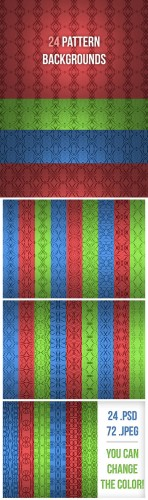 24 Pattern Backgrounds - Creativemarket 1881