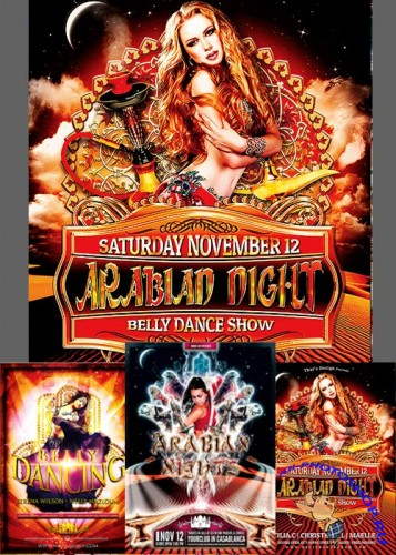 Arabian Nights Flyer Bundle part 1 + Facebook Cover