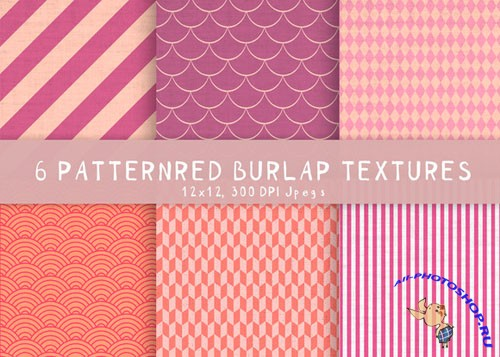 Creativemarket - 6 Burlap patterned textures 194774