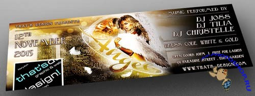 Angels Party Flyer Template + Facebook Cover