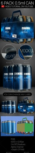 6 Pack 0.5ml Can 02 - Graphicriver 9216235