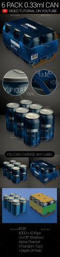 6 Pack 0.33ml Can 01 - Graphicriver 9322575