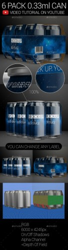 6 Pack 0.33ml Can 02 - Graphicriver 9961102