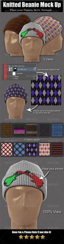 Graphicriver - Knitted Beanie Mock Up 6088965