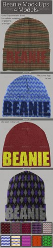 Graphicriver - Beanie Mock Ups 6761929
