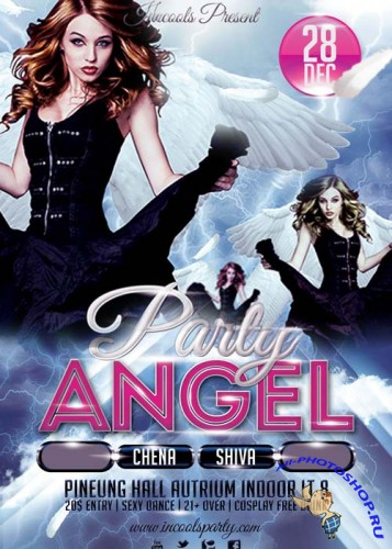 Party Angel Flyer Template