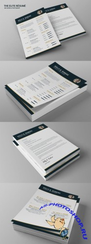 The Elite Resume - Creativemarket 132373