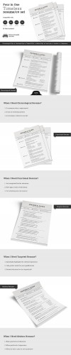Creativemarket - 4 in 1 Timeless Resume CV Set 154993