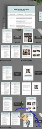 Creativemarket - 21 in 1 Timeless Resume CV Pack 192069