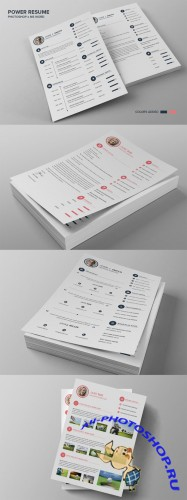 Power Resume CV - Smith - Creativemarket 139288