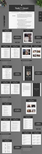 Creativemarket - All in One Elegant Resume CV Pack 214516