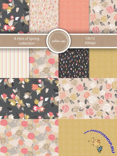 A Hint of Spring Pattern Pack - Creativemarket 198341
