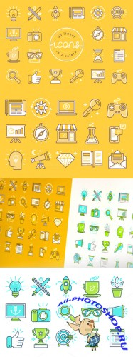 Creativemarket - 30 linear icons 271613