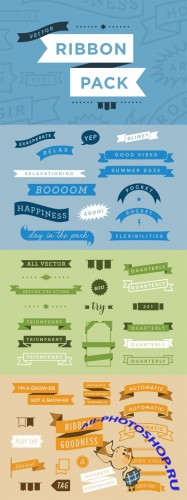 Creativemarket - Vector Ribbon Pack 3715