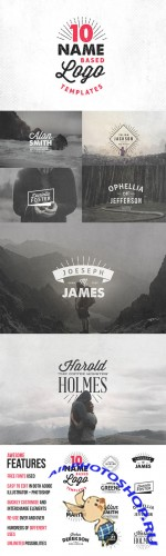 Creativemarket - 10 Name Based Logo Templates 19147