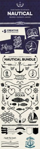 Creativemarket - Nautical vector pack 141610