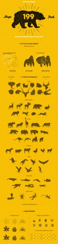 Creativemarket - 58 Hand Drawn Animal Pack 189620