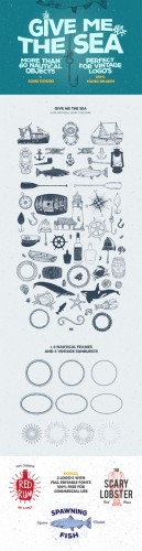 Creativemarket - Give Me The Nautical Hand Drawn Pack 179006
