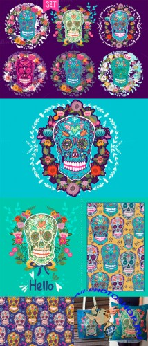 Creativemarket - Ornamental skulls 101535