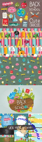 Creativemarket - Cute School set 9661