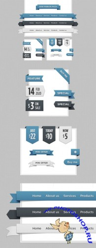 Creativemarket - Web Ribbon Pack 210