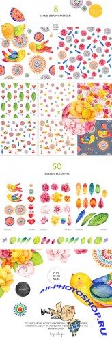 Creativemarket - Bright life watercolor set 235213