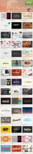 July Big Bundle 2015 - 106 Premium Creativemarket Items
