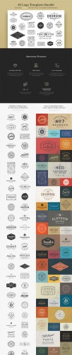 Creativemarket - 50 Logo Templates Bundle 232706