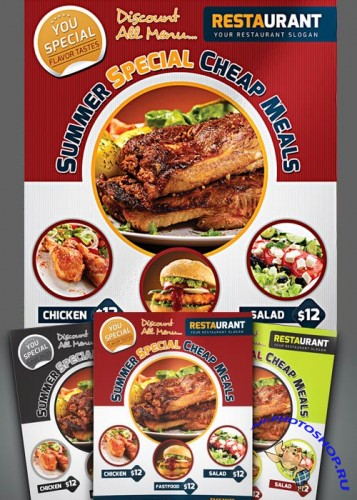 University Fast Food Flyer
