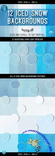 Creativemarket - 12 Iced Snow Background Textures 122133