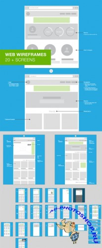 Web Wireframes - User Flow - Creativemarket 27469