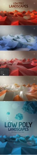 Creativemarket - Low Poly Landscapes 164631