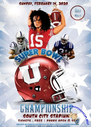 Sport super bowl championship Flyer