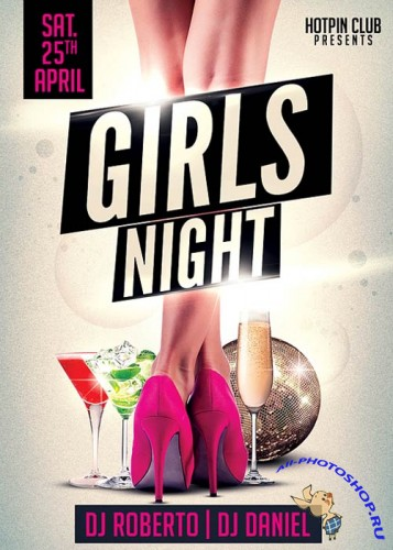 Girls Ladies Night Party Flyer
