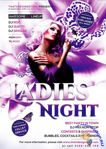 Ladies Night Flyer Template V6