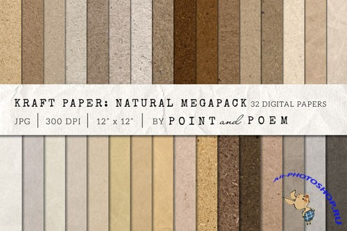 Kraft Paper Texture Pack - Neutral - Creativemarket 156971