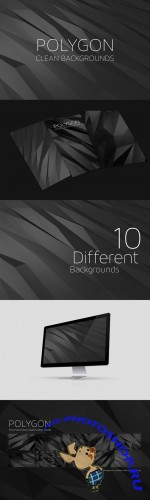 Creativemarket - Polygon Backgrounds Dark 14621