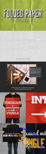 Creativemarket - 24 Folded Paper Overlays 15939